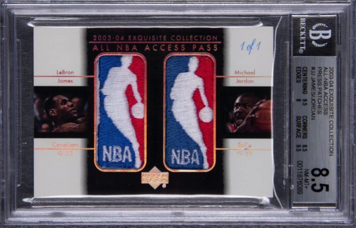 LeBron James/Michael Jordan Logoman card sets record ...