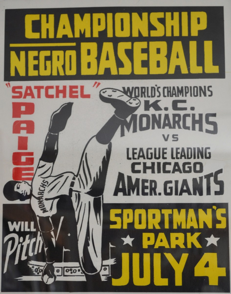 Reproduction (Proof of 200 printed) of a Negro Leagues poster promoting an upcoming game