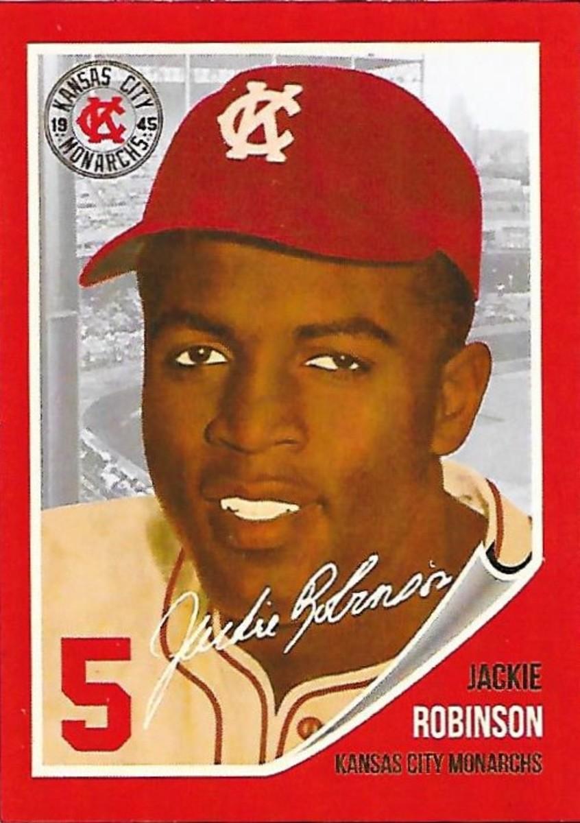 Jackie Robinson Starting Lineup K.C. Monarchs baseball card
