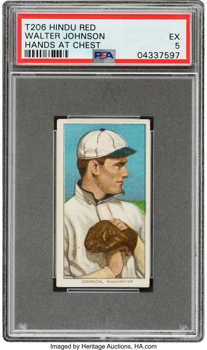 1909-11_T206_Hindu-Red_Walter_Johnson_Hands_At_Chest_PSA_EX_5_Heritage_Auctions