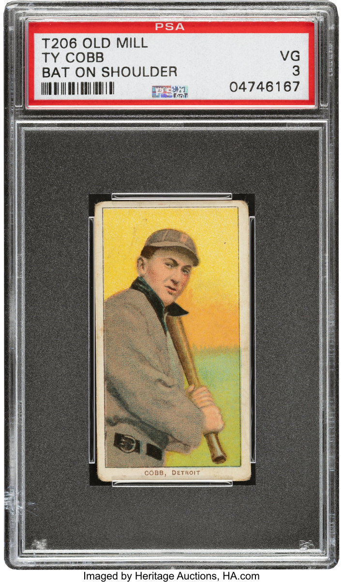 1909-11_T206_Old_Mill_Ty_Cobb_Bat_On_Shoulder_PSA_VG_3_Heritage_Auctions