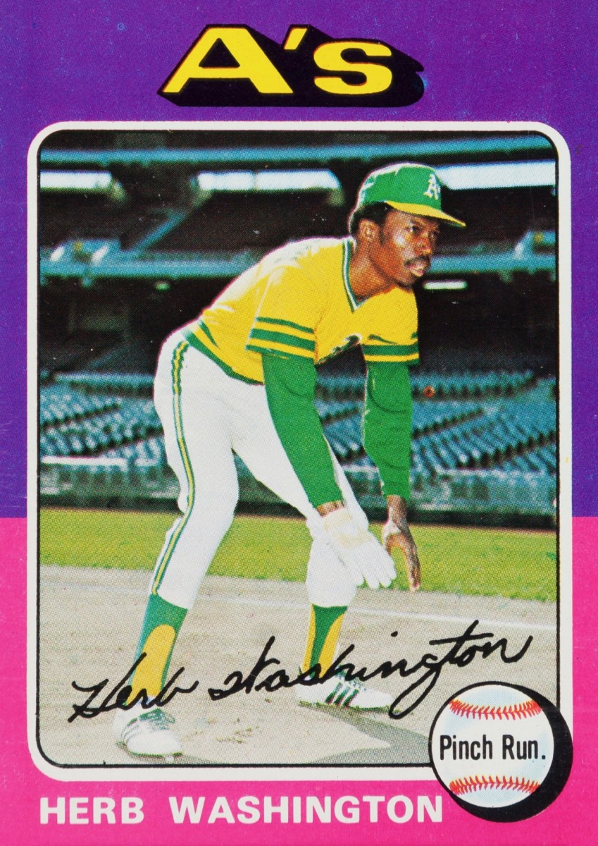"The only baseball card to list ""Pinch Run."" (Pinch Runner) as a position"