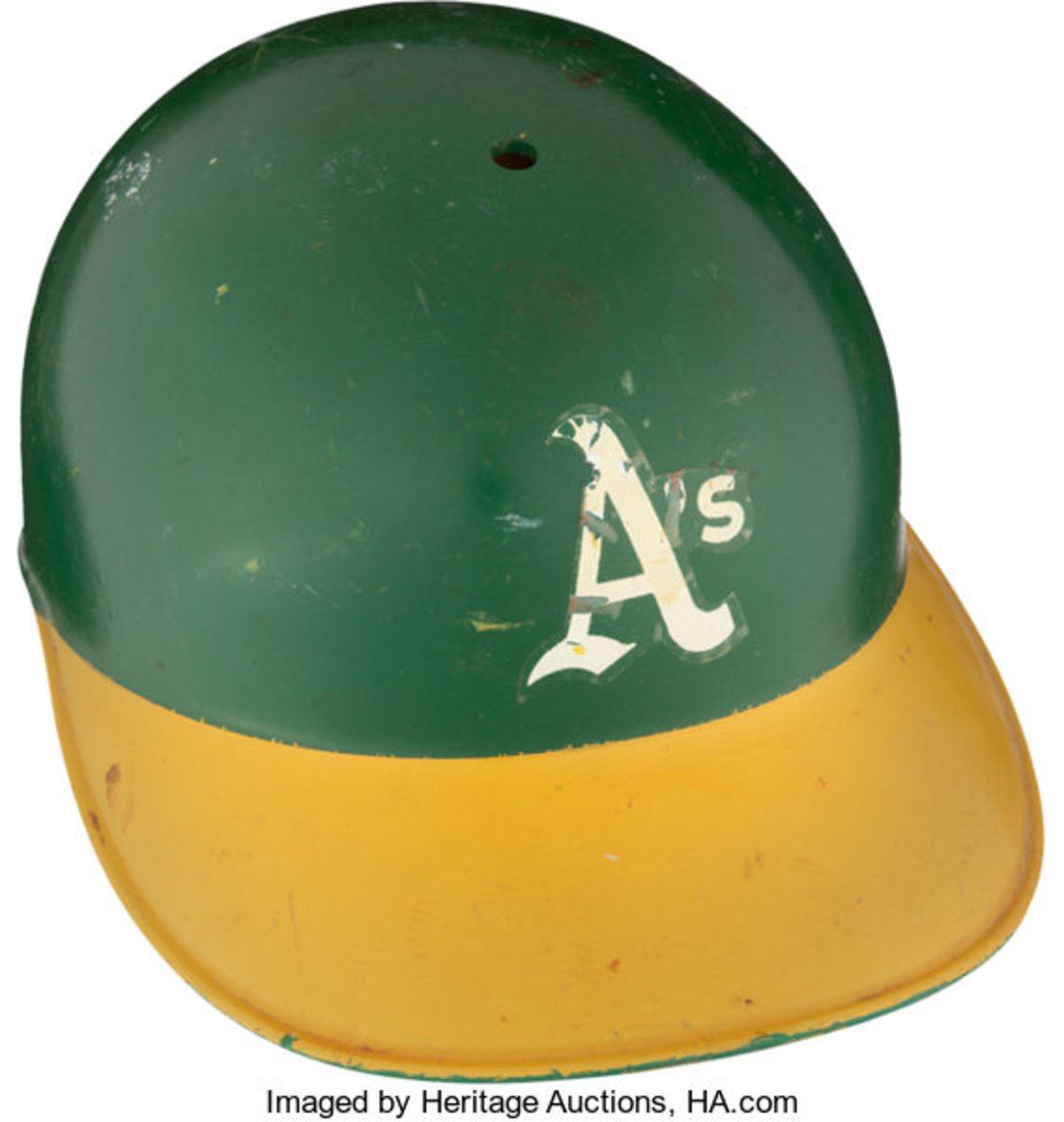 """The helmet Herb Washington wore in 1974-75 as a """"designated runner"""" is on auction with Heritage Auctions"""