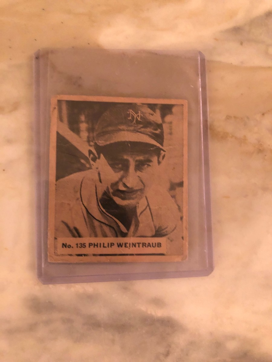 Philip Weintraub, who played for the New York Giants and Brooklyn Dodgers in the 1930s.