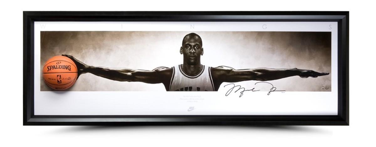 Michael Jordan memorabilia from the Upper Deck Store. Photos: Upper Deck