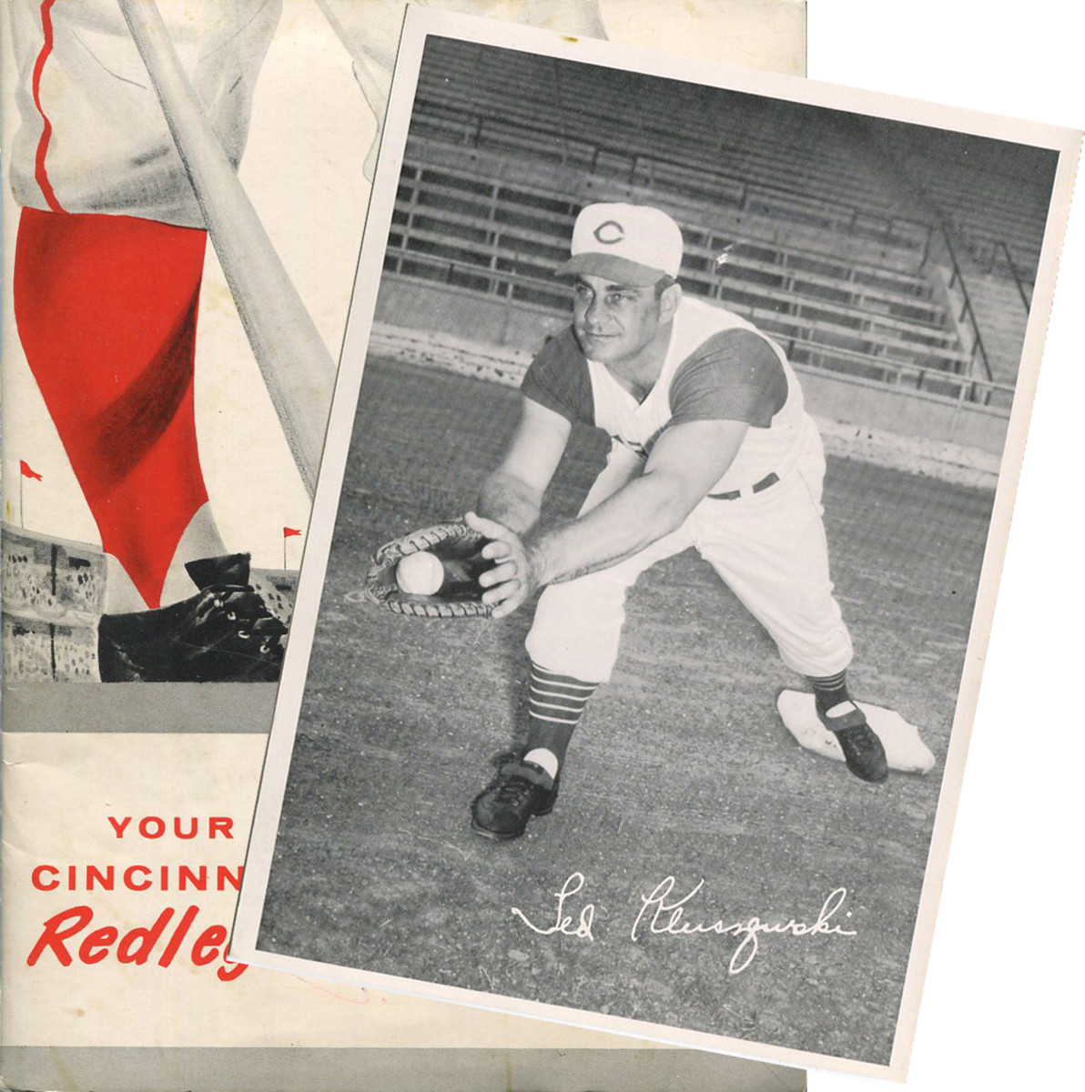 A set of 1957 Sohio Gas Cincinnati Reds photo cards are up for bid in the October Collectibles Classic auction.