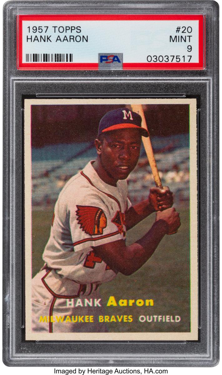 1957 Topps Hank Aaron error card.