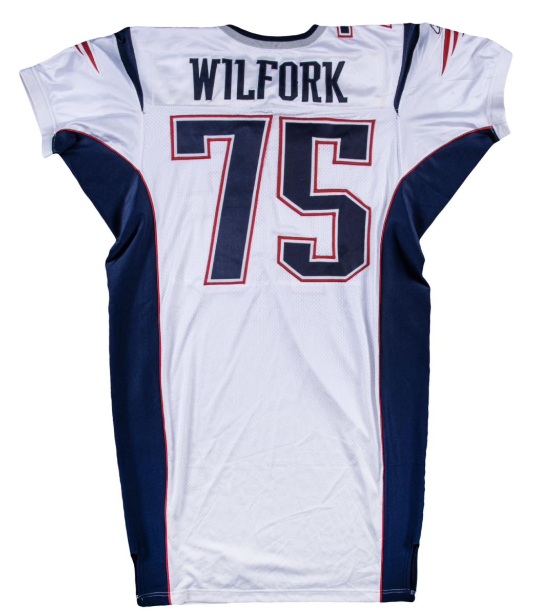 Vince Wilfork game-worn jersey up for bid at Goldin Auctions.