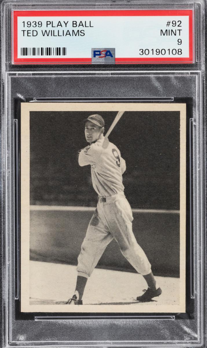 1939 Play Ball Ted Williams card.