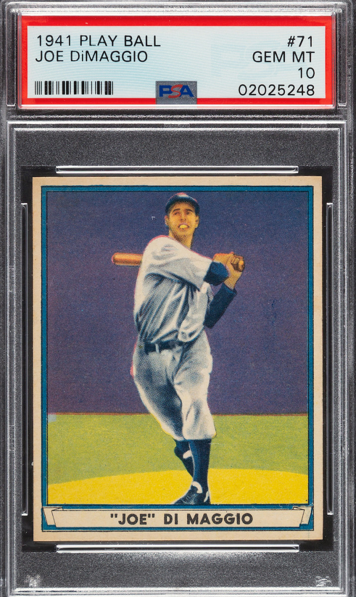 1941 Play Ball Joe DiMaggio card.