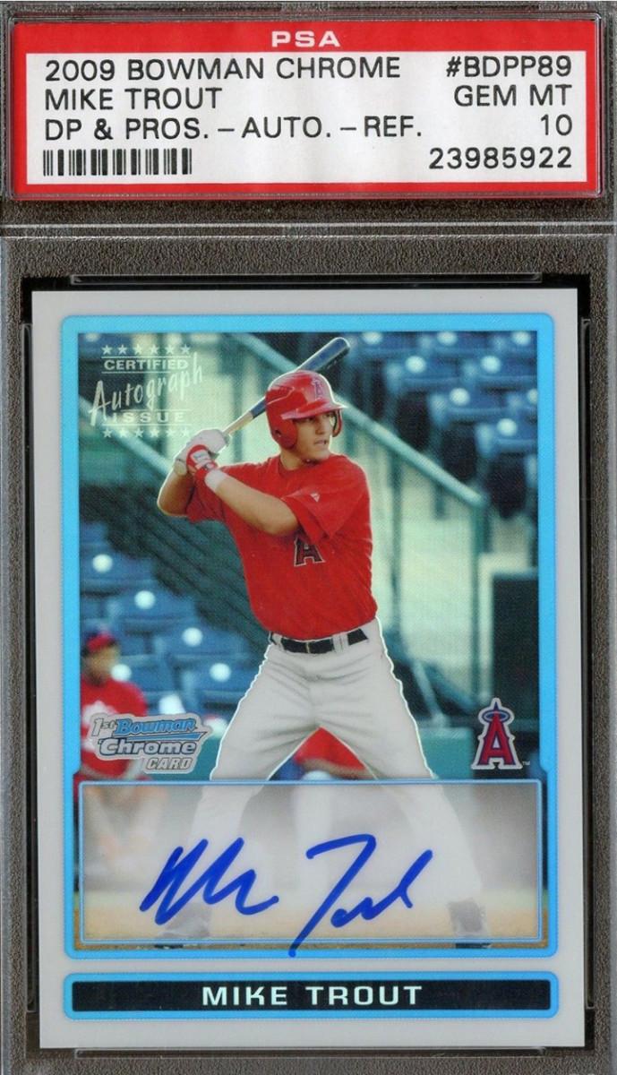 2009 Bowman Chrome Mike Trout card.