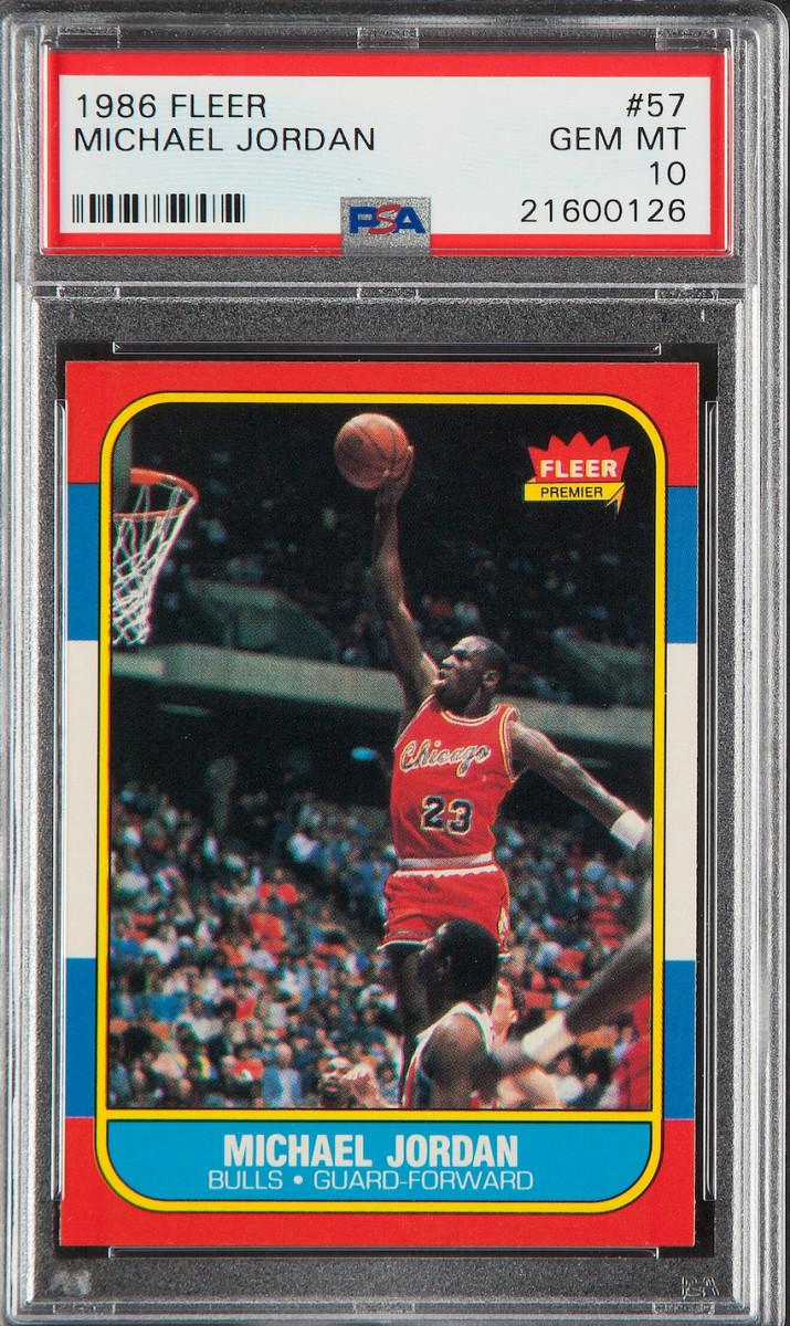 1986 Fleer Michael Jordan rookie card.