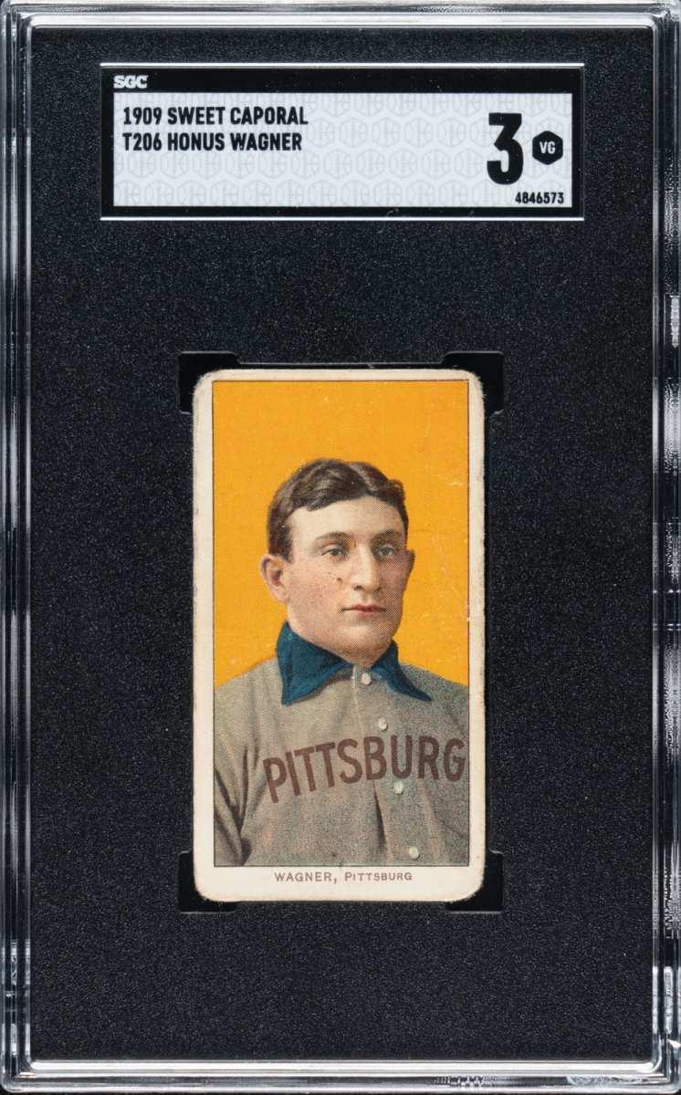 1909 T206 Honus Wagner card that sold for $6 million.