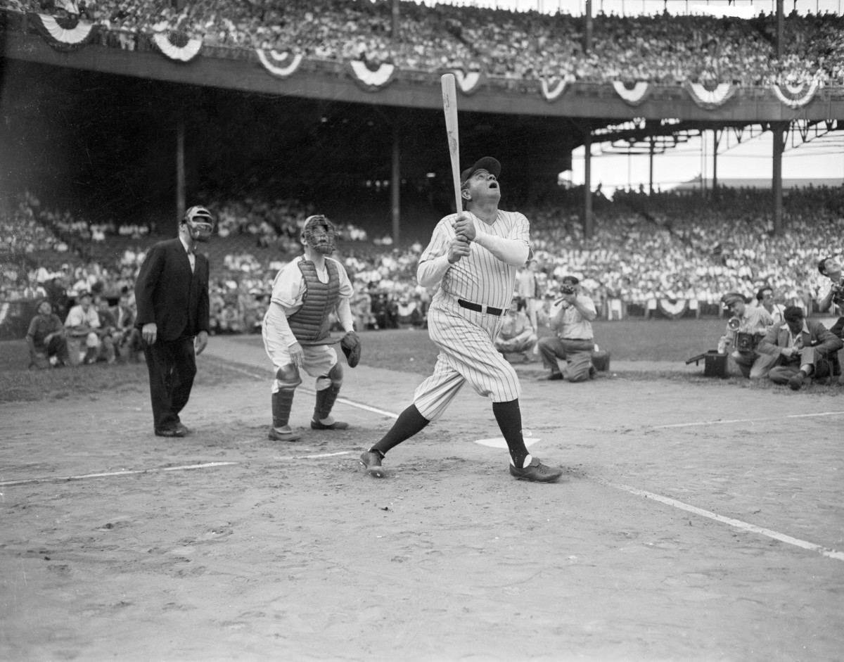 Home run king Babe Ruth had one of the most iconic swings — and some of the most iconic baseball cards — in history.