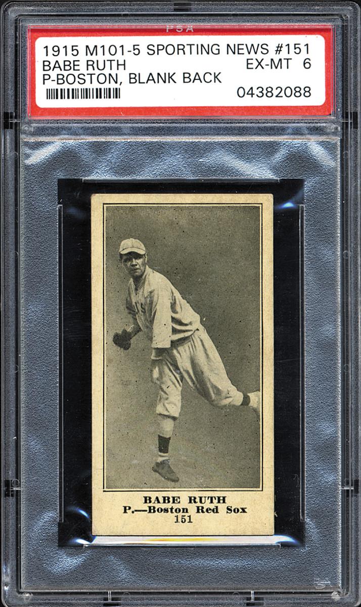 1915 Sporting News Babe Ruth card.