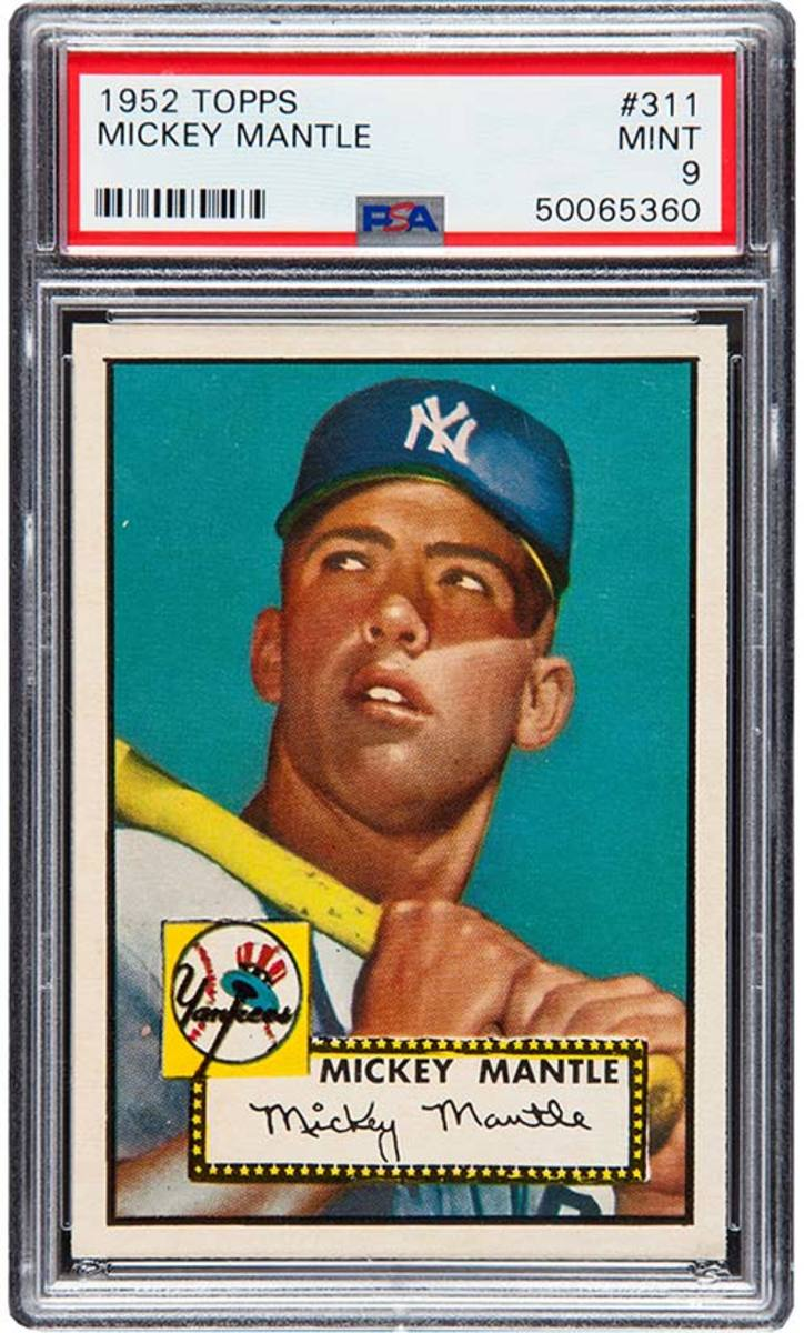 1952 Topps Mickey Mantle.