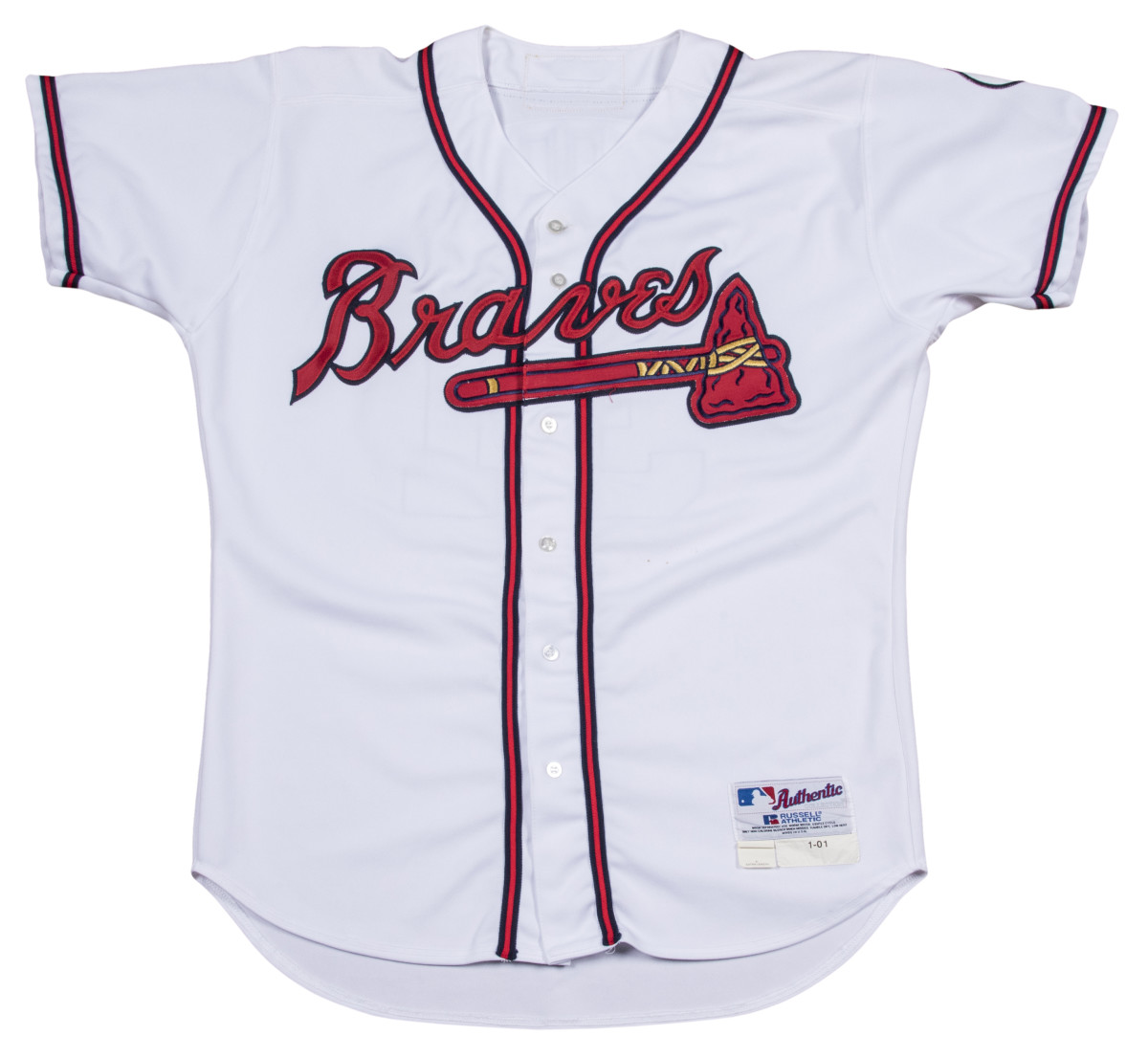 Greg Maddux jersey photomatched to 2001 NLCS.