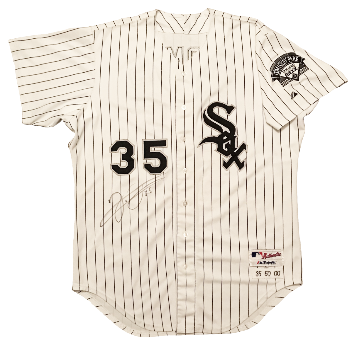 Frank Thomas jersey photomatched to the 2000 ALDS.