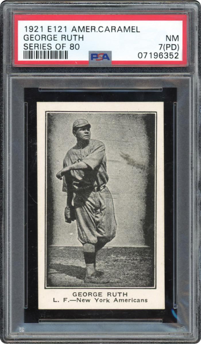 1921 E121 American Caramel Babe Ruth card.
