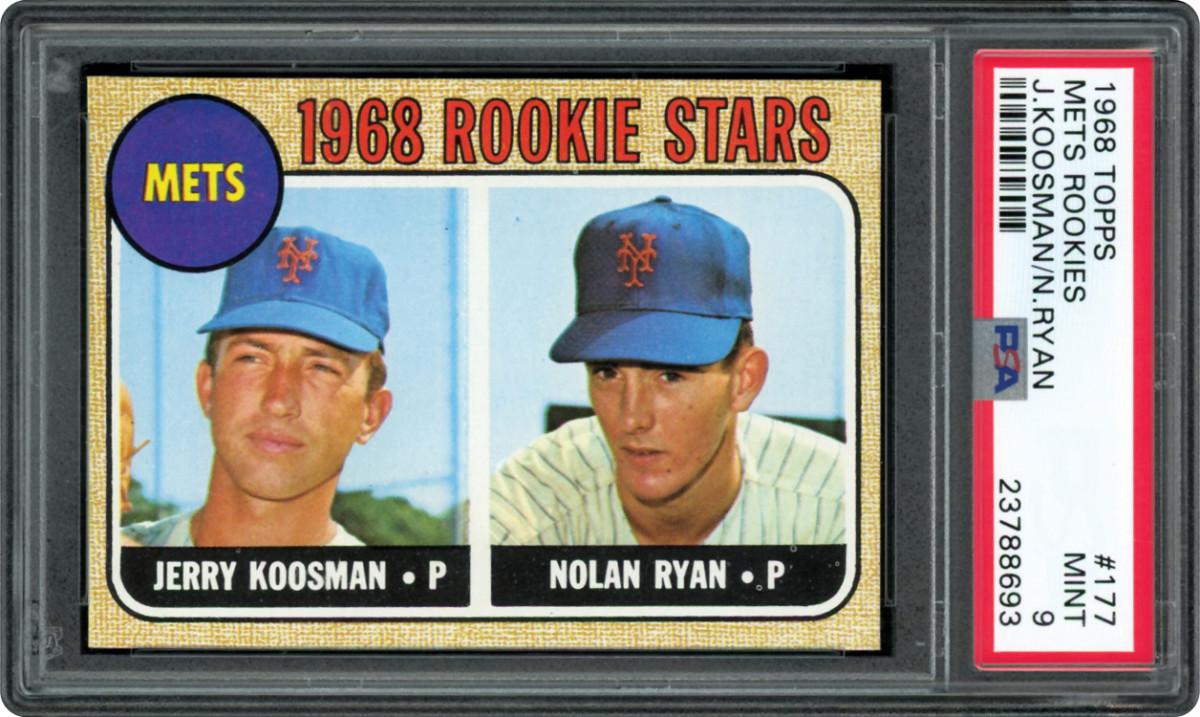 A 1968 Nolan Ryan rookie card.