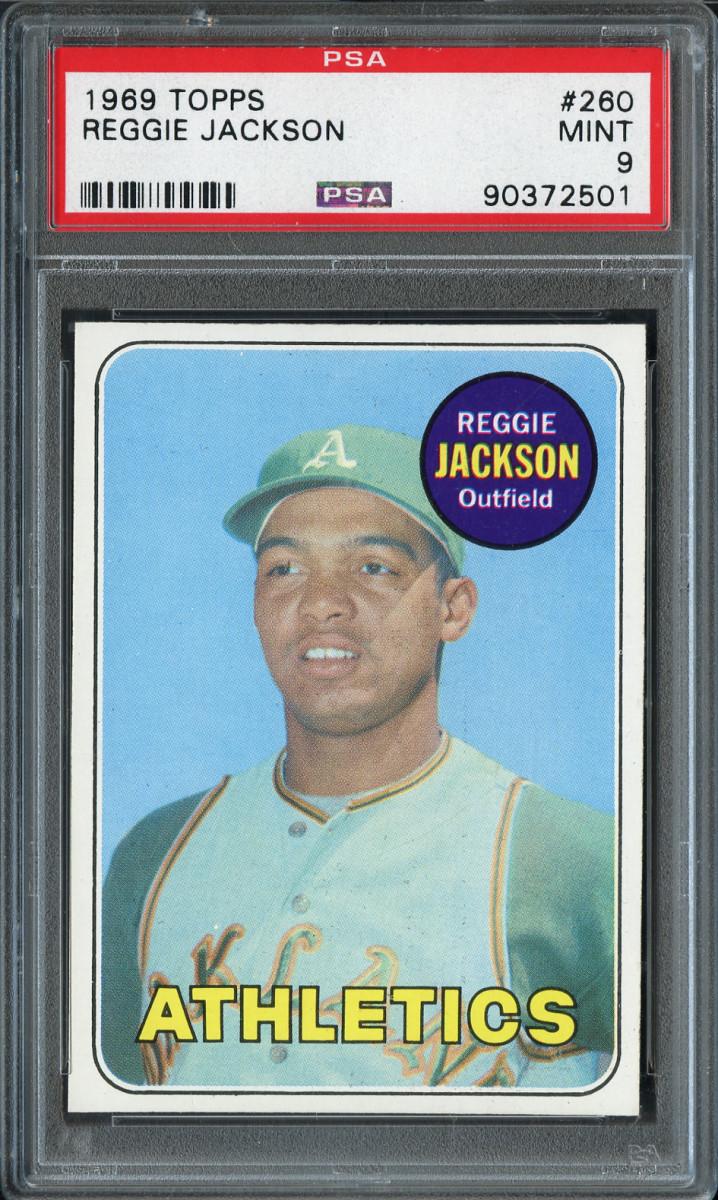 A 1969 Topps Reggie Jackson