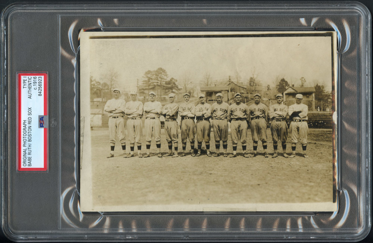 Babe Ruth is included in this Boston Red Sox team photo.