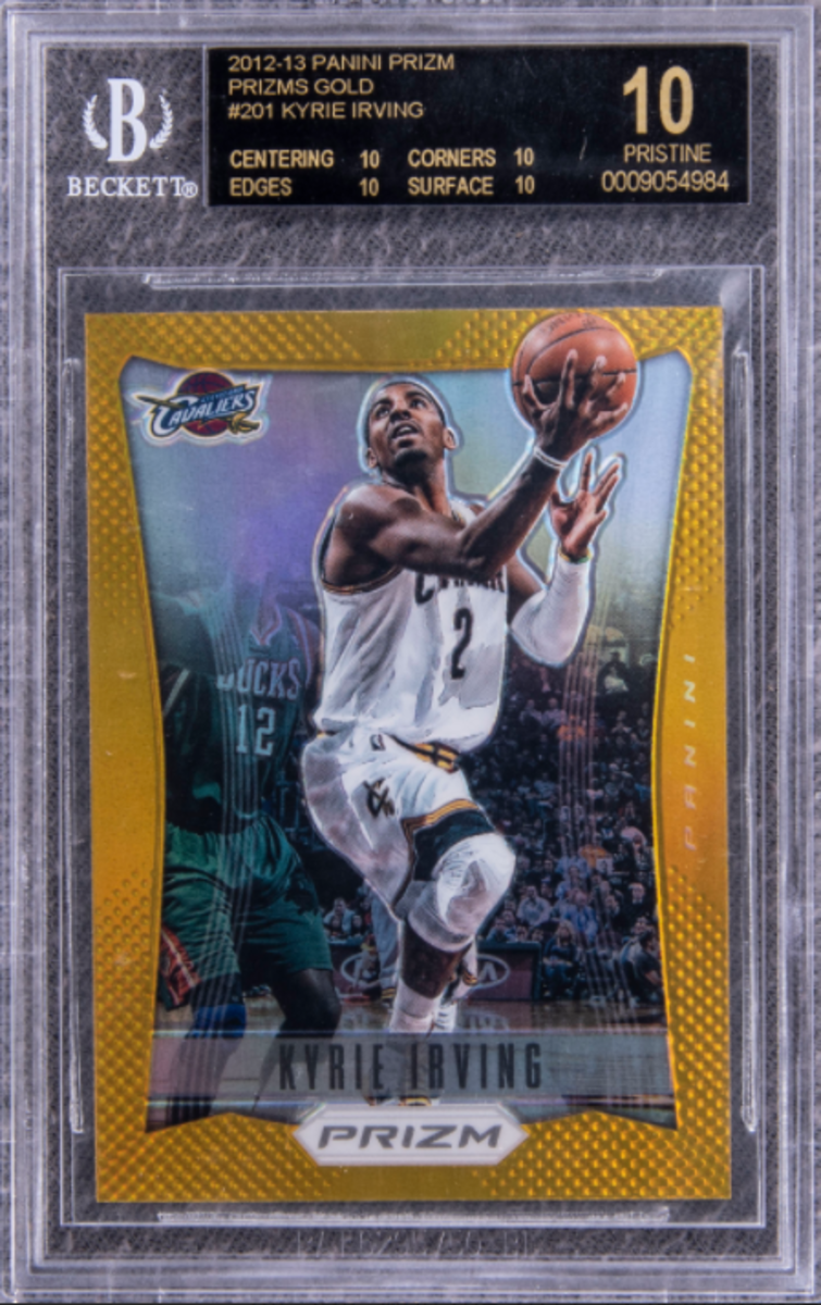 This 2012-12 Panini Prizm Kyle Irvin rookie card set a record during the March Goldin Auction.