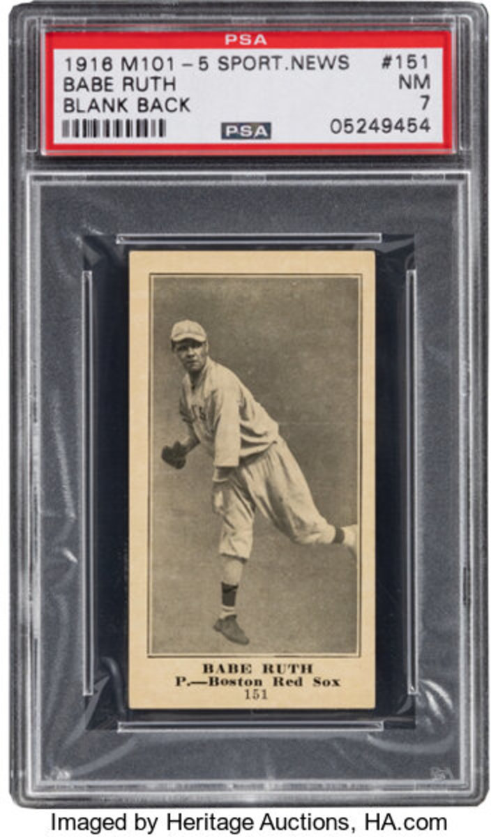 A Babe Ruth rookie card opened at more than $1.5 million in the Heritage Spring Auction.