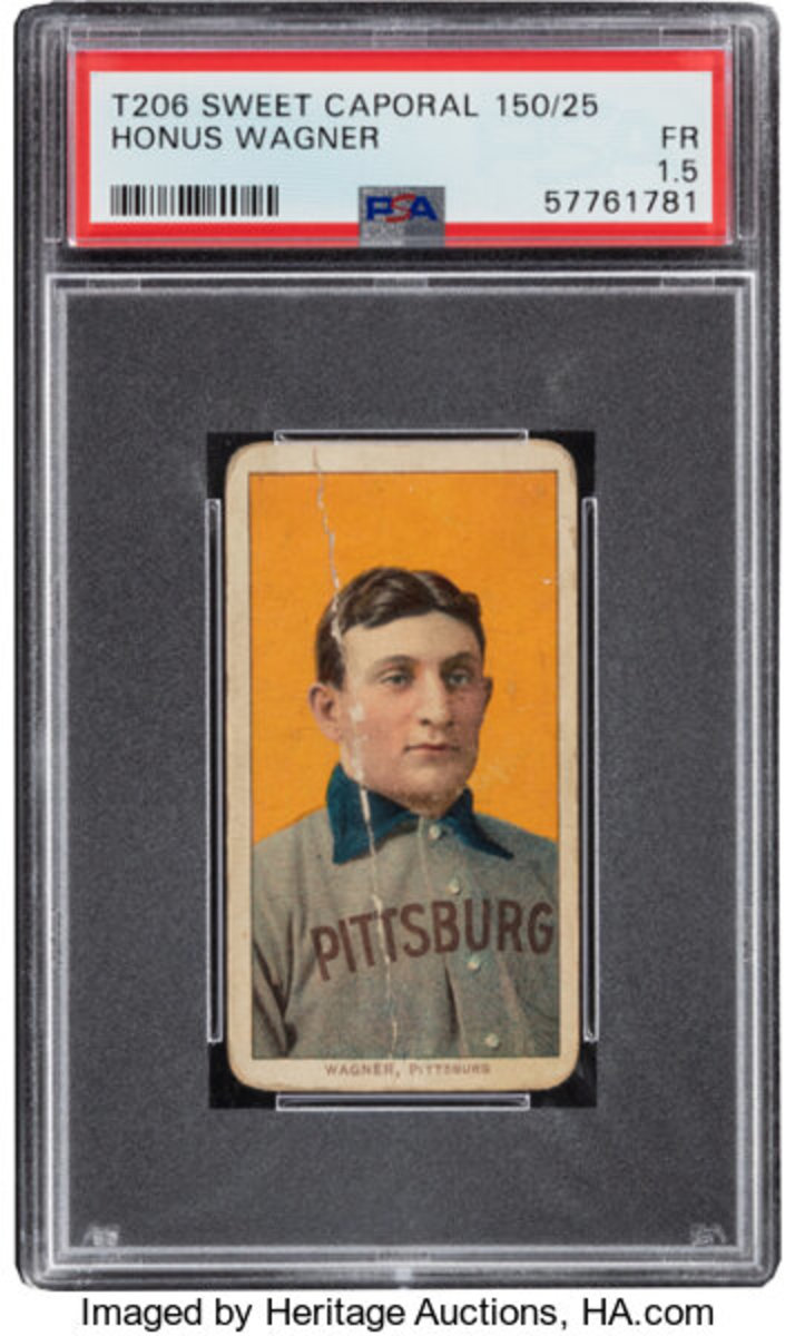A T206 Honus Wagner card opened at more than $1.3 million in the Heritage Spring Auction.