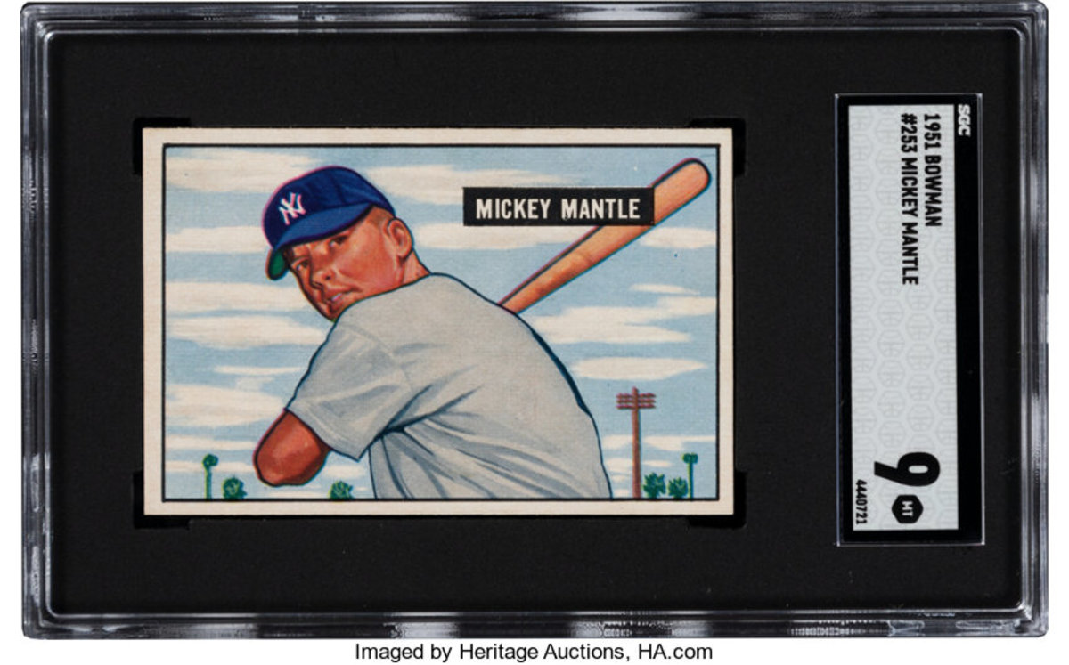 A 1951 Bowman Mickey Mantle card opened at more than $200,000 in the Heritage Spring Auction.