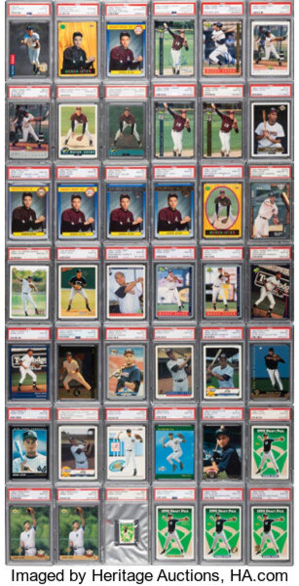 A 1992-93 Derek Jeter complete set.