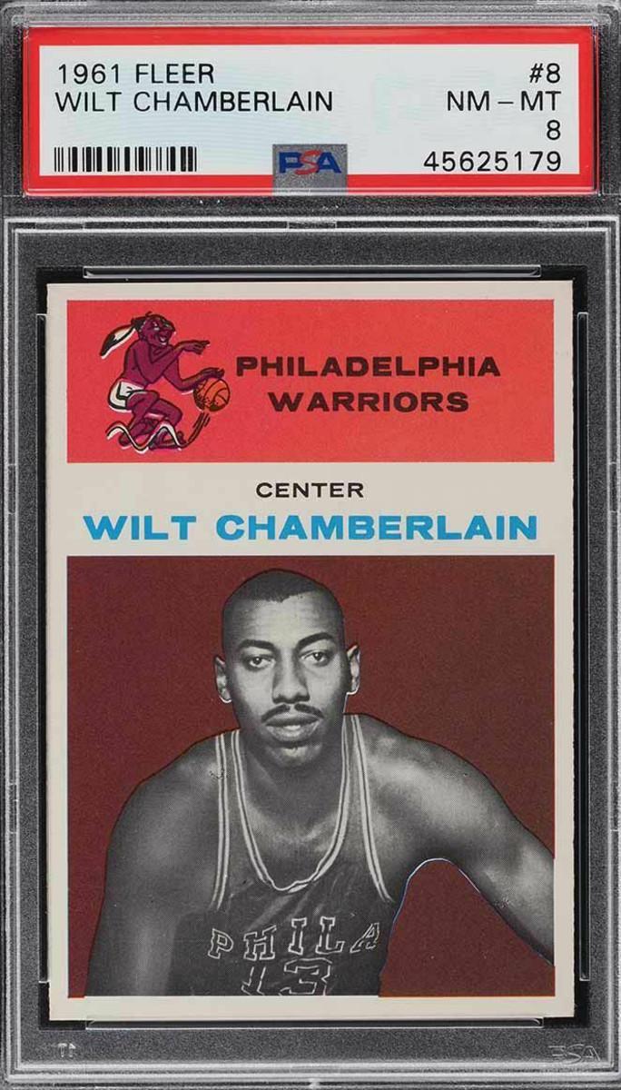 A 1961 Fleer Wilt Chamberlain.