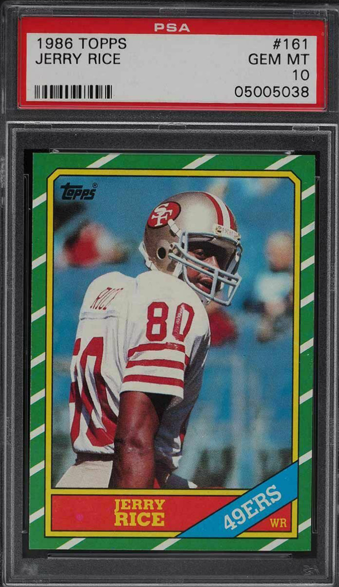 A 1986 Topps Jerry Rice.
