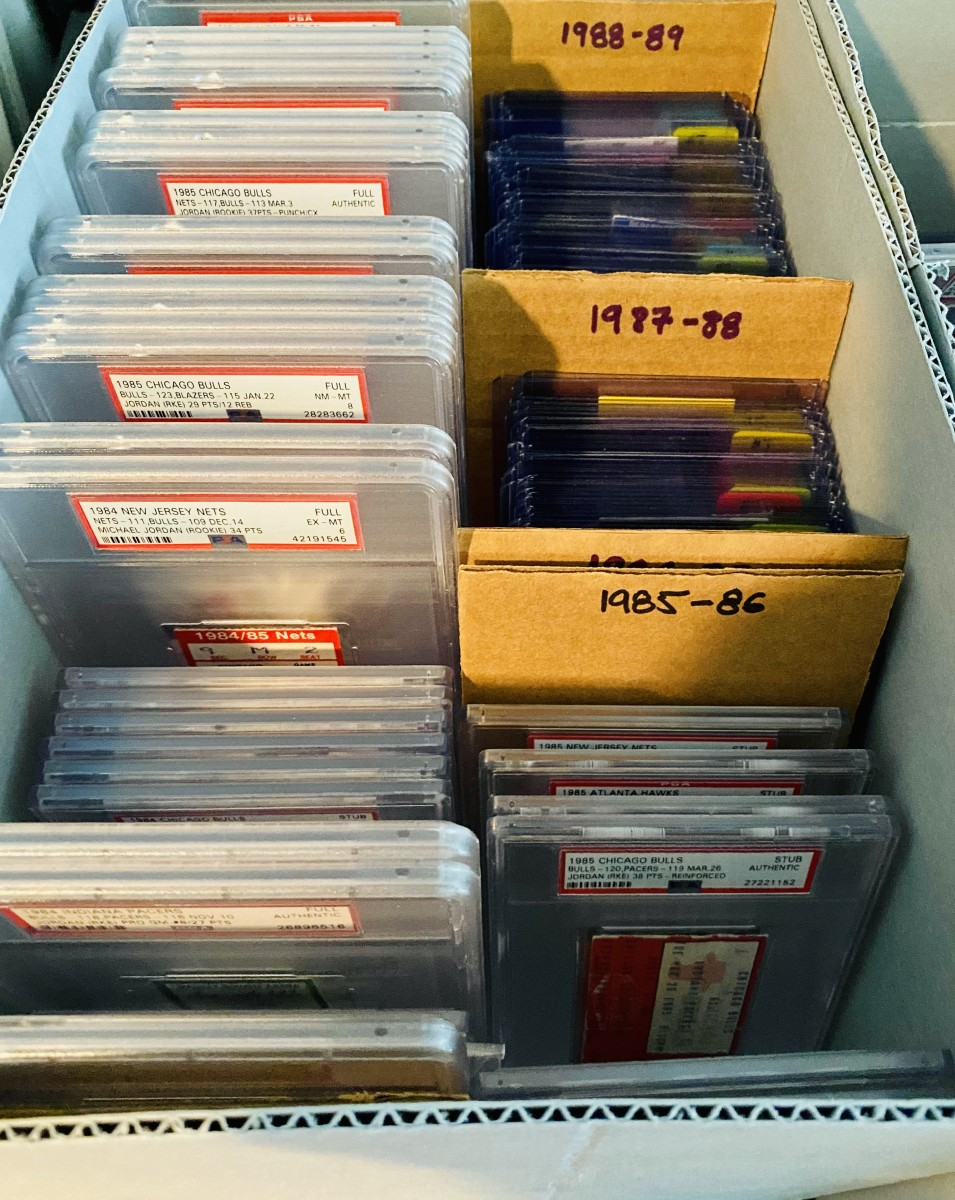 Andrew Goldberg's Michael Jordan ticket collection.