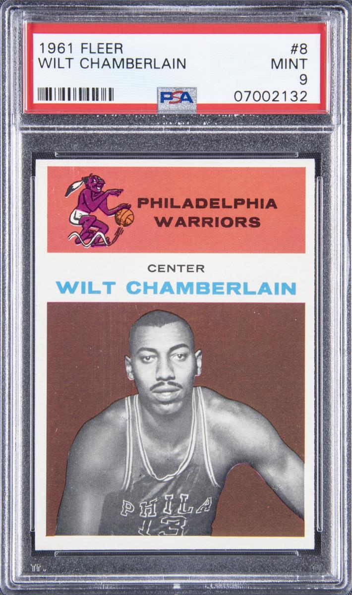 1961 Fleer Wilt Chamberlin rookie card.