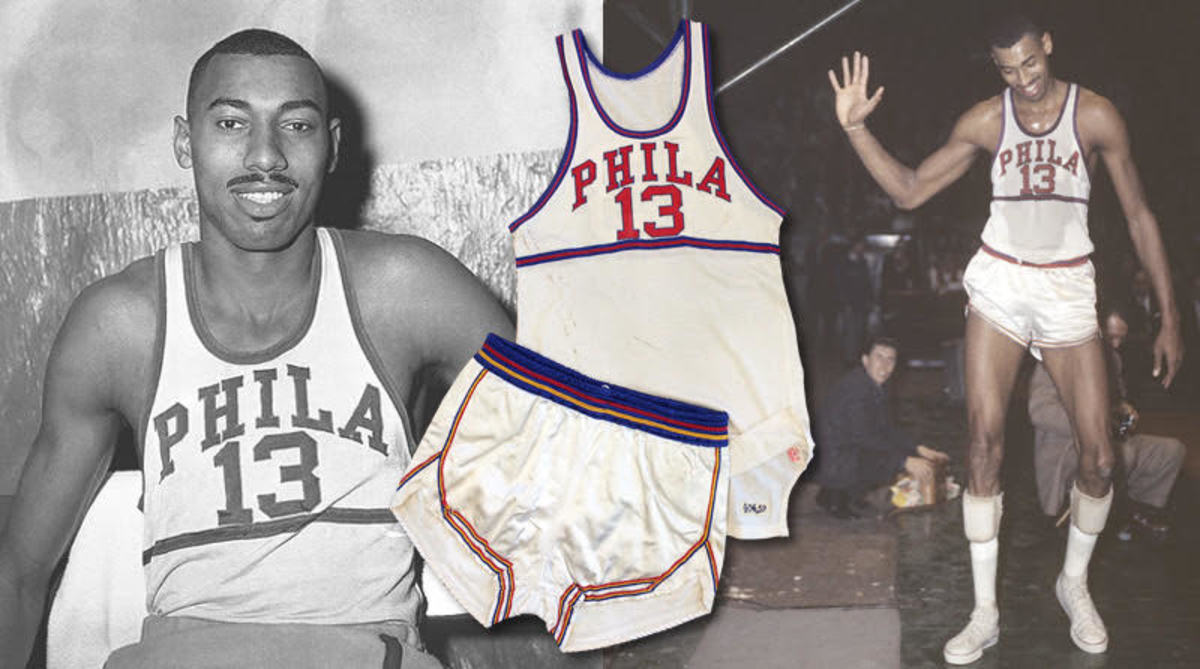 A game-worn Wilt Chamberlin uniform available to investors at Collectable.