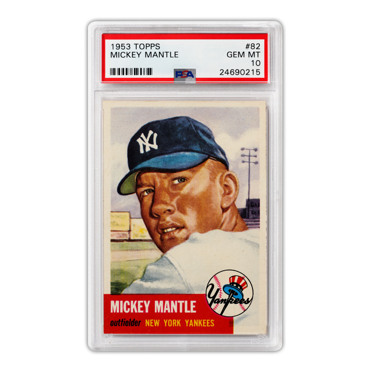 A 1953 Mickey Mantle card available to investors at Collectable.