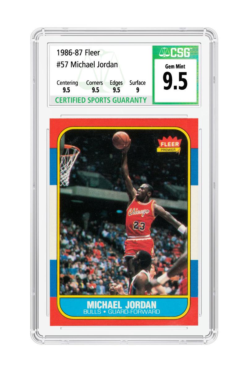1986-87 Michael Jordan rookie card graded by CSG.