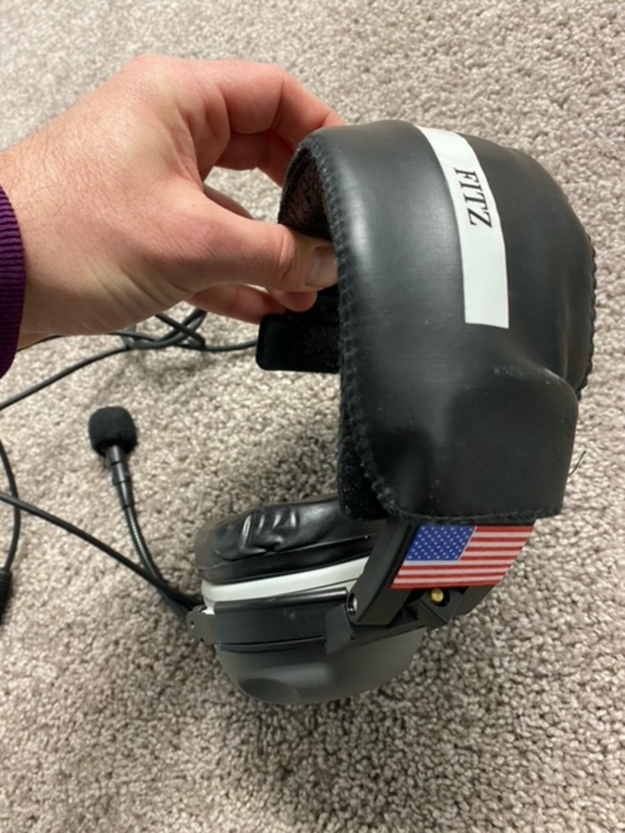 Headset used by Northwestern head coach Pat Fitzgerald during 2020 game when he became the school's all-time winningest coach.