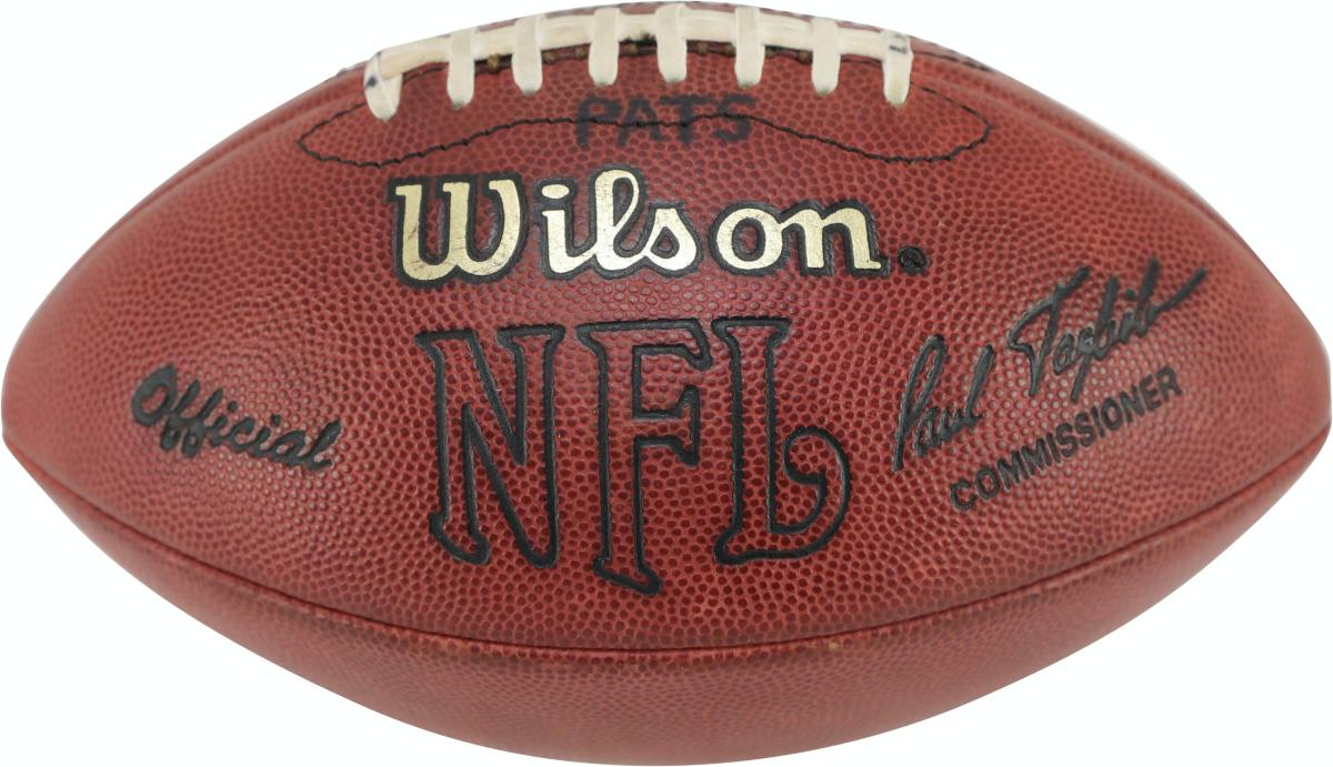 The football Tom Brady threw for his first career NFL TD pass.