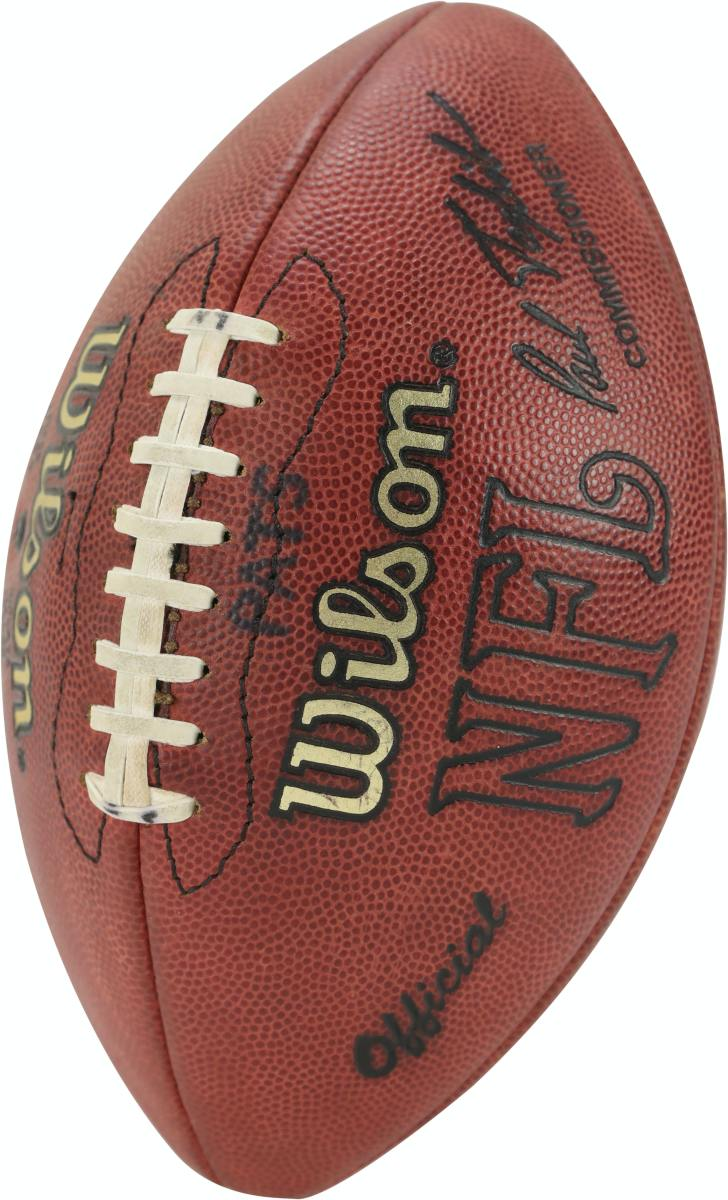 The ball Tom Brady threw for his first career NFL touchdown pass.