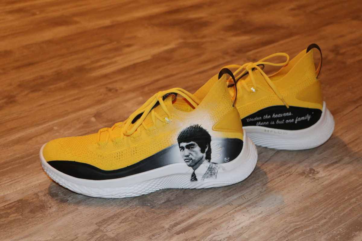 Stephen Curry sneakers honoring martial arts legend Bruce Lee.