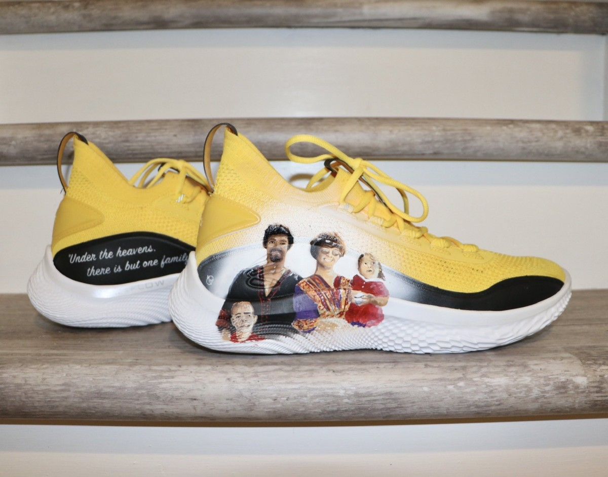 Stephen Curry sneakers honoring martial arts legend Bruce Lee and his family.