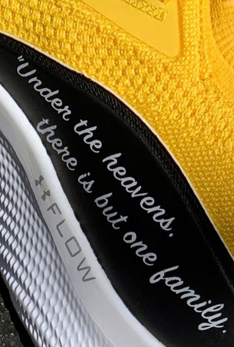 Steph Curry's sneakers honoring martial arts legend Bruce Lee feature this famous quote from Lee.