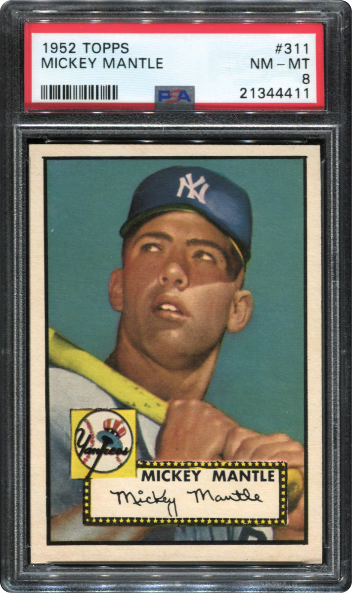 A 1952 Topps Mickey Mantle, graded NM-MT 8, is part of the Thomas Newman Collection.