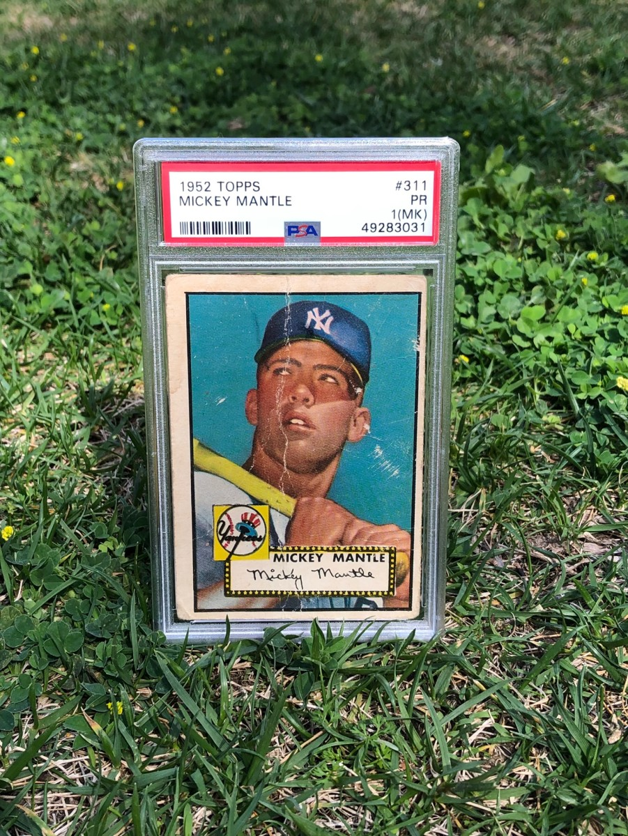 A 1952 Mickey Mantle rookie card found in a Mennonite barn in Canada.