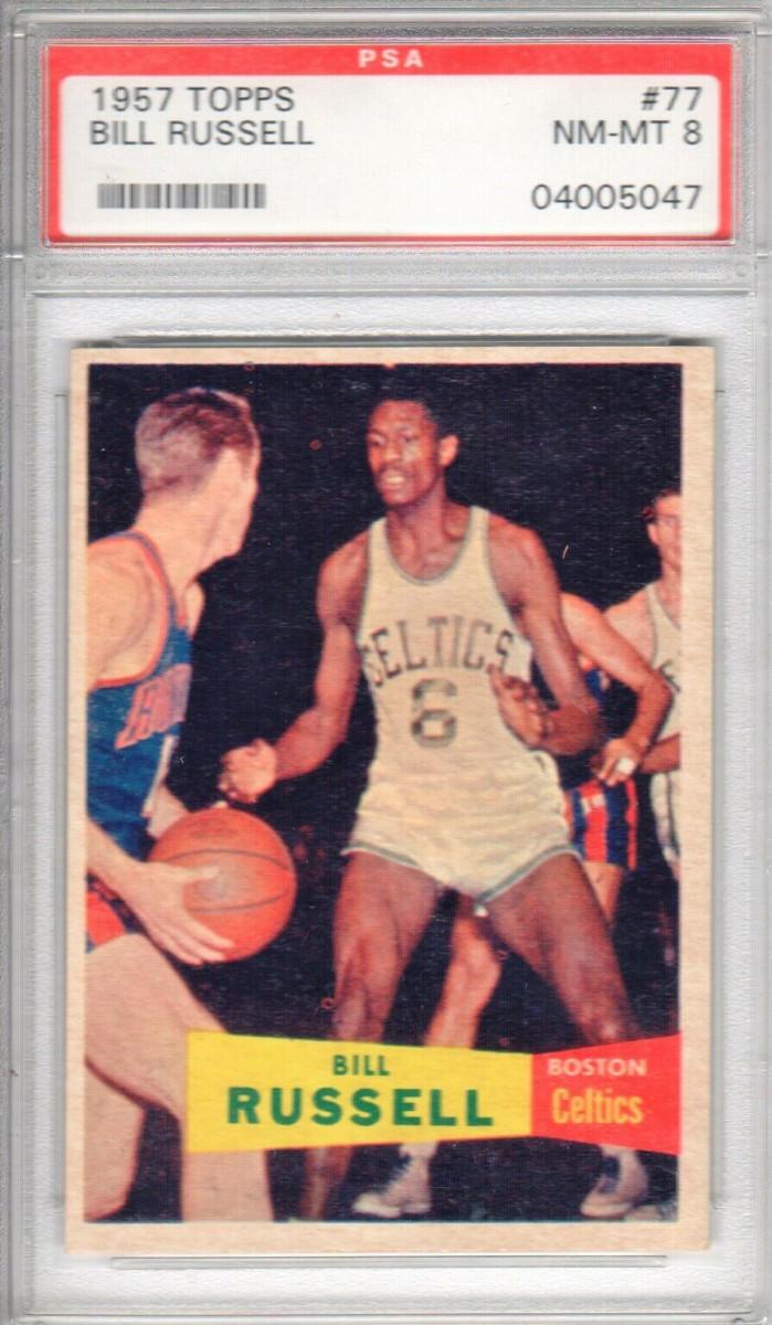 A 1957 Topps Bill Russell card