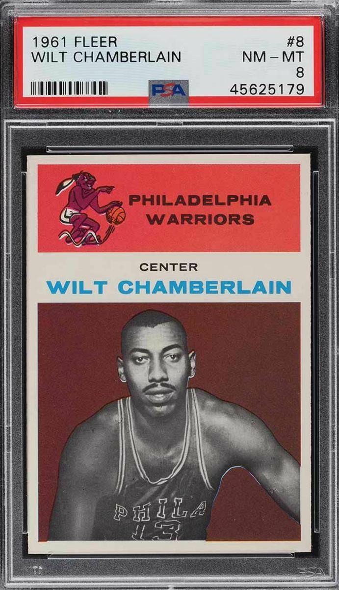 A 1961 Fleer Wilt Chamberlain card.
