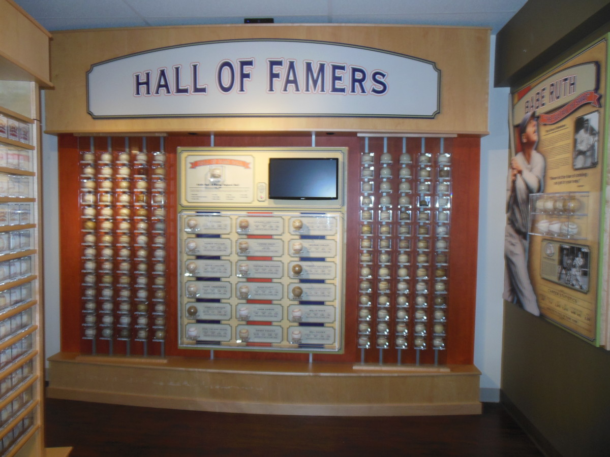 Dennis Schrader's collection of autograph baseballs features many Hall of Famers.