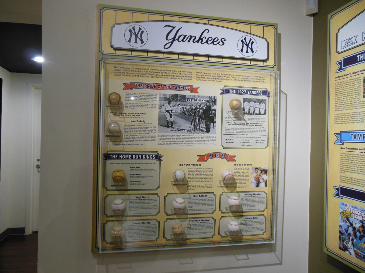 Dennis Schrader's collection of autographed baseballs features many New York Yankees.